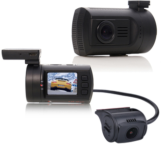 Dash Cam Mounted In Car